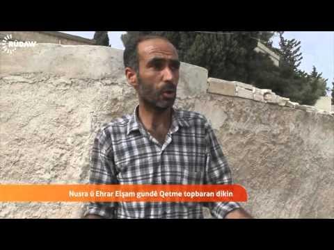 Nusra û Ehrar Elşam gundê Kurdan topbaran dikin