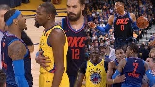 Russell Westbrook VS Kevin Durant ROUND 3!! Carmelo Wants SMOKE With Everyone! OKC vs GS!