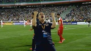 بكاء المعلق السوري بعد هدف عمر السومة القاتل في مرمى إيران | تصفيات كأس العالم 2018