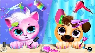 Take Care Of Cutest Pet Friends Kittlen and Puppy - Pet Care Game For Kids