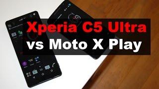 Sony Xperia C5 Ultra vs Moto X Play, comparativa (en español)