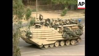 GWT: WRAP US tanks roll into central Baghdad, outside Palestine Hotel