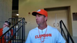 TigerNet.com - Dabo Swinney on scrimmage - 3.29.17