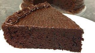How to Make Chocolate Cake | Moist Chocolate Cake | Chocolate Mud Cake | Readymade Frosting