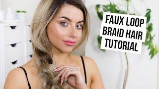 EASY FAUX LOOP BRAID HAIR TUTORIAL I COCOCHIC