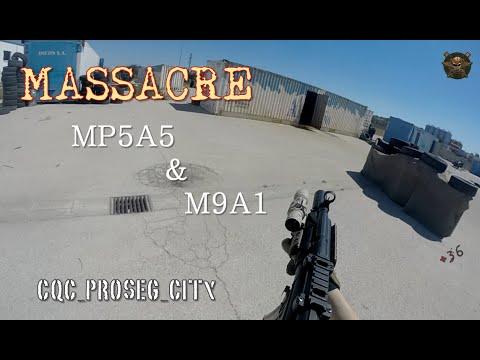 watch CQB PROSEG / U.S. RANGERS / MASSACRE MP5 CM041 & M9A1