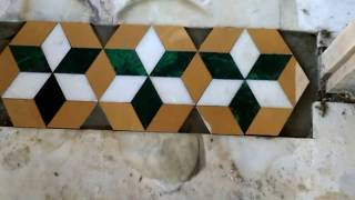 How to install Marble flooring door mat design work in India