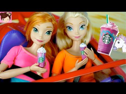 Xxx Mp4 Frozen Elsa Anna Try The Starbucks Unicorn Frappuccino DIY Miniature Doll Starbucks Coffee 3gp Sex
