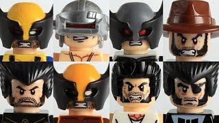 Lego Marvel Wolverine custom showcase ft variations of Logan