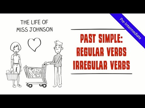 Past Simple Tense - Regular & Irregular Verbs: Life of Miss Johnson (Comical Fun ESL Grammar Video)