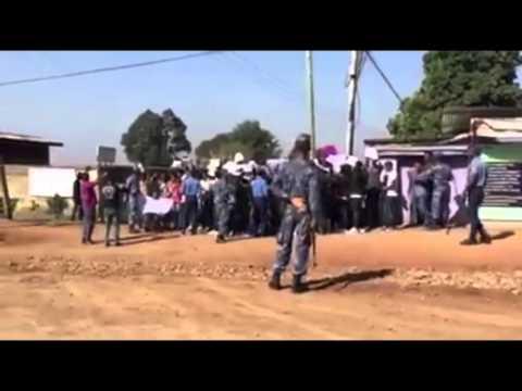 Addis Ababa University students protest at US Embassy, Addis Ababa 2016