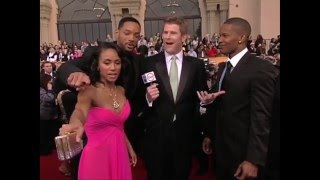 Will Smith, Jada Pinkett Smith and Jamie Foxx Interview at SAG Awards