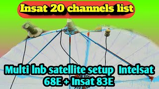 Multi satellite C-band  LNB Intelsat_20 68E+Insat 4a 83E