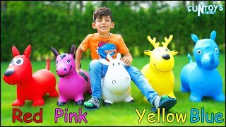 Collecting Colors Animals with Finger Family Nursery Rhymes for Kids