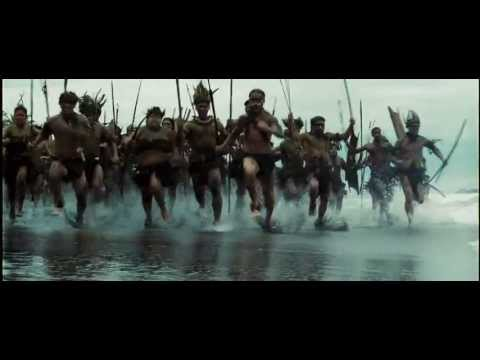Jack Sparrow running from cannibals POTC Dead Man's Chest