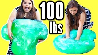 100 LBS OF SLIME! DIY Giant 45 Kilo Slime Stress Ball!