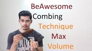 Simply Easy Combing Technique| Max Volume |Set Wet Hair Gel