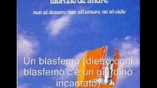 Fabrizio de André - Un blasfemo
