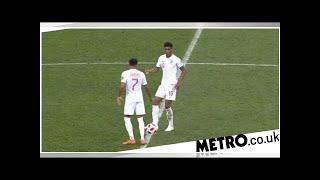 Marcus Rashford and Jesse Lingard sneakily attempt to score as Croatia celebrate