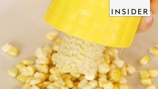 Easy Way to Strip Corn Cobs
