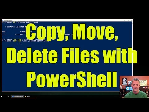 Copy, Move, Delete files with PowerShell