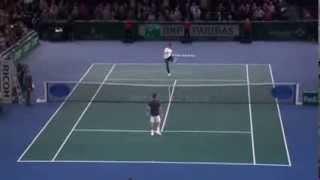 إبراهيموفيتش يتحدى ثاني أفضل لاعب تنس في العالم