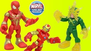 Marvel Super Hero Adventures Iron Spider-man and Electro have a big Adventure with Iron Man!