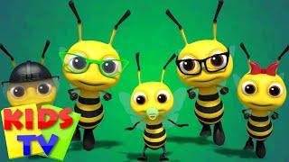 Bee Finger Family | Nursery Rhymes | Kids Songs | Baby Rhymes | Kids Tv Cartoon Videos