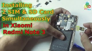 [Hindi-Audio]- Installing 2 SIM + SD Card Simultaneously in Xiaomi Redmi Note 3