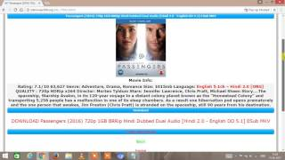 how to download  hollywood movies in hindi in hd for free in pc