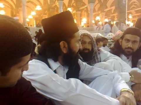 Qibla Ala Hazrat Sahib Eidgah Sharif Sitting in front of Kaaba Sharif