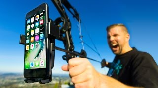 Mounting iPhone 7 to Bow & Arrow!! Ultimate Aerial 4K Camera?