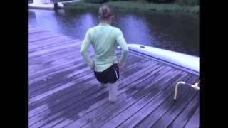 DAK amputee girl walking on stumps