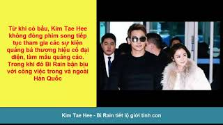 Hot: Kim Tae Hee - Bi Rain tiết lộ giới tính con