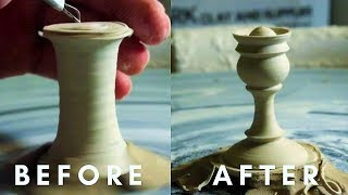 EXTREMELY SATISFYING Pottery    Carving, Forming & Painting