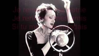 Edith Piaf - L'hymne à l'amour + Paroles