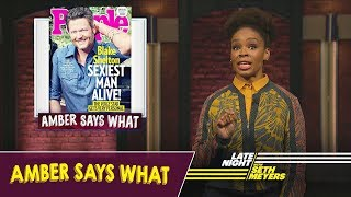 """Amber Says What: Blake Shelton Named """"Sexiest Man Alive,"""" Serena Williams"""
