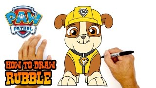 How to Draw Rubble | Paw Patrol | Art Lesson for Kids