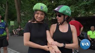 New York Organizes Tandem Biking With The Visually Impaired