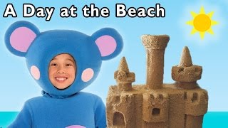 A Day at the Beach and More | Funny Beach Game | Baby Songs from Mother Goose Club!