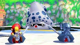Super Mario Sunshine - All Bosses (2 Player)