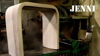 extreme steam bending wood chair