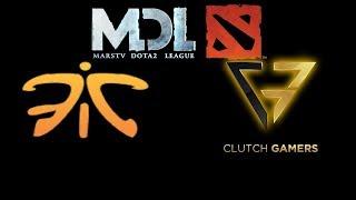 Fnatic vs Clutch Gamers  2017 Mars Dota 2 League Highlights Dota 2