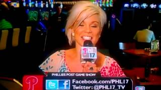PHILLIES REPORTER SIGOURNEY MCCLEAF SAYS 'TWAT' INSTEAD OF TONGUE 'TWISTER'