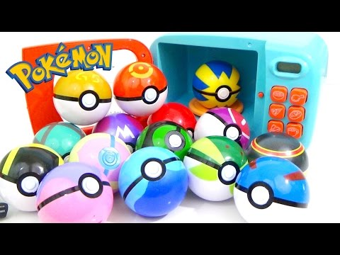 POKEMON Play Doh and MAGIC MICROWAVE Surprise Cooking Playset Compilation