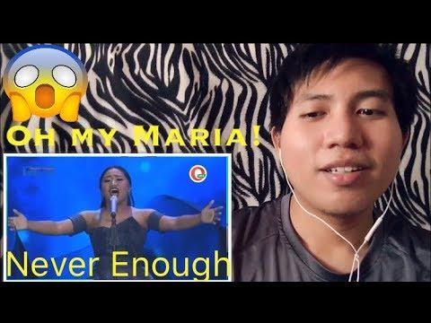 MARIA - NEVER ENOUGH (Loren Allred) - Spekta Show Top 7 - Indonesian Idol 2018 Reaction