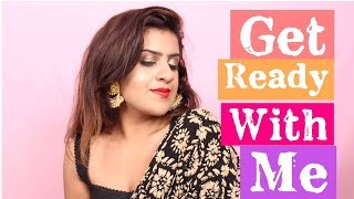 Get Ready With Me for Diwali! Makeup + Outfit | KRITI NAYAR