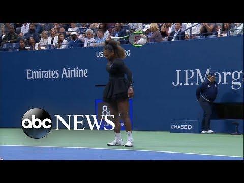 Shocking US Open final as Serena Williams loses breaks her racket