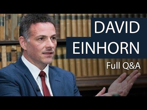 David Einhorn Full Q&A Oxford Union