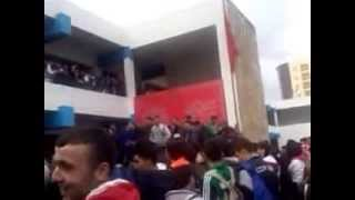 إحتجاجات تلاميذ ثانوية عبد الخالق الطريس في طنجة